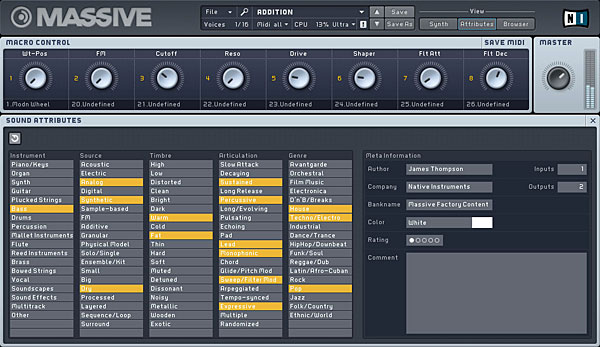 Native Instruments Massive Image
