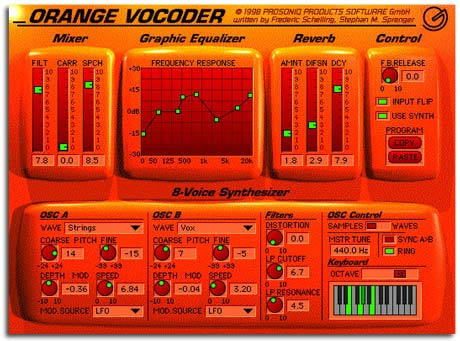 Prosoniq Orange Vocoder Image