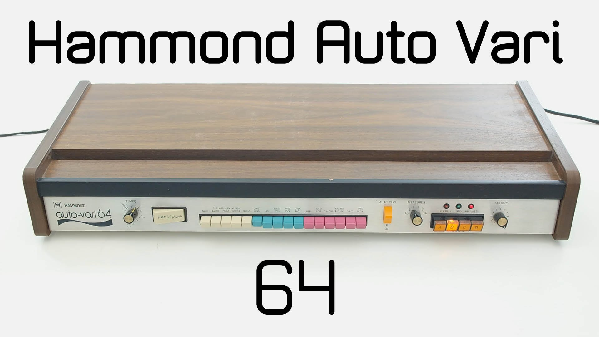 Embedded thumbnail for Auto-Vari 64 Drum Machine > YouTube