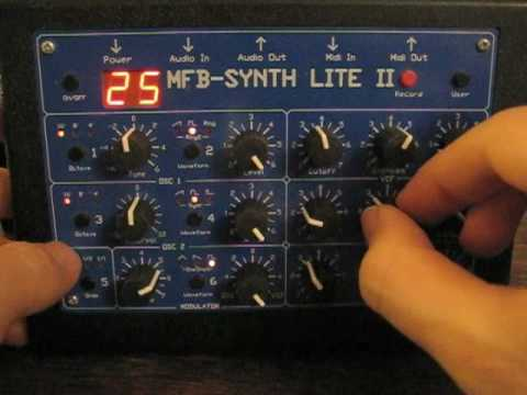 Embedded thumbnail for MFB Synth Lite 2 > YouTube